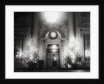Christmas Scene at White House Entrance by Corbis