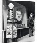 Barber Shop Storefront by Corbis