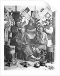 Chinese Men Getting Hair Cut by Corbis
