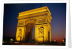 Arc de Triomphe de l'Etoile Illuminated at Night by Corbis
