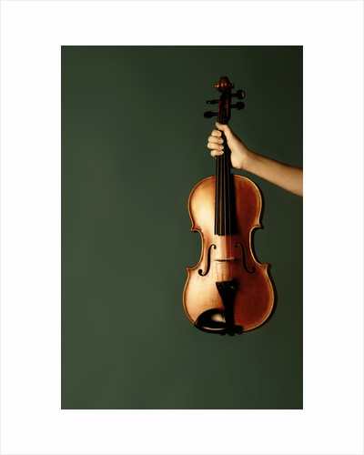 Violin in her hand by Ricardo Demurez