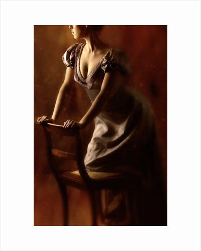 Woman with a chair by Ricardo Demurez