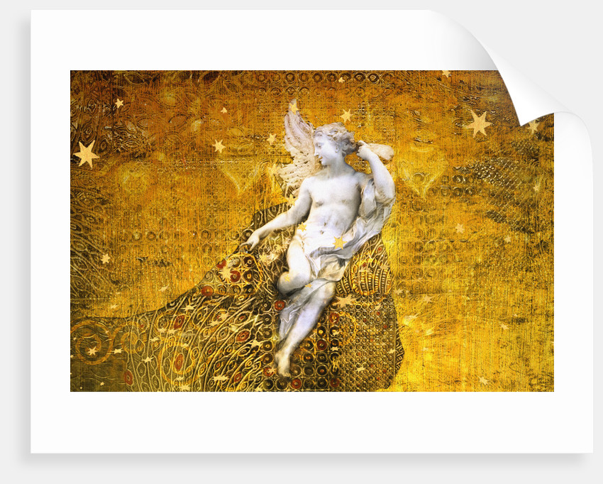 Golden Angel and Stars by Dee Smart