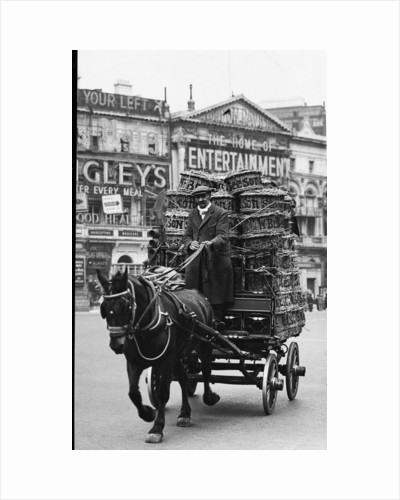 Horse and cart in Piccadilly Circus by Associated Newspapers