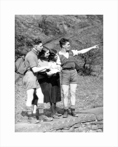 Are we lost? Hikers with a map by Associated Newspapers