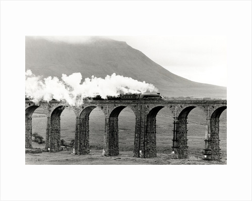 Mallard steaming over Ribblehead Viaduct by Associated Newspapers