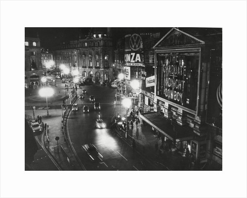 Piccadilly Circus at Night by Associated Newspapers