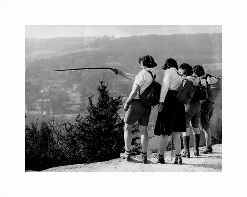 It's that way!' Hikers on Box Hill by Associated Newspapers