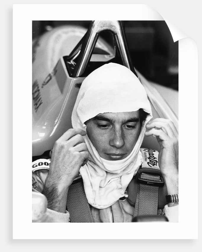 Ayrton Senna Large Poster Art Print Black /& White Card or Canvas