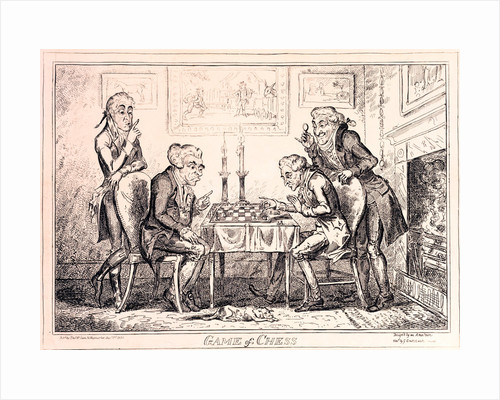 Game of Chess by George Cruikshank