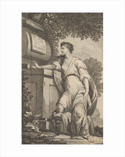 Volume I of 'Evelina' by Fanny Burney,  frontispiece by J. Hall