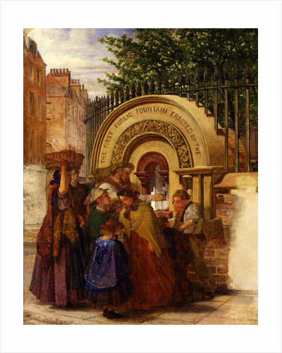 Study for the First Public Drinking Fountain by W. A. Atkinson