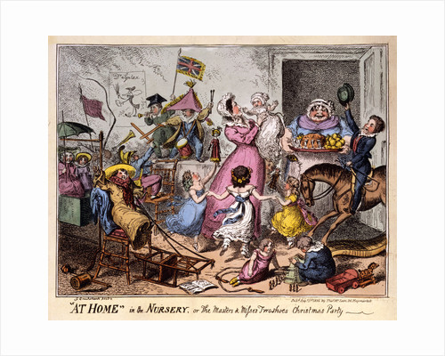 AT HOME in the NURSERY, or The Masters and misses wo shoes Christmas Party by George Cruikshank