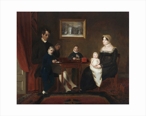 Group portrait of an unidentified family in a domestic interior by Anonymous