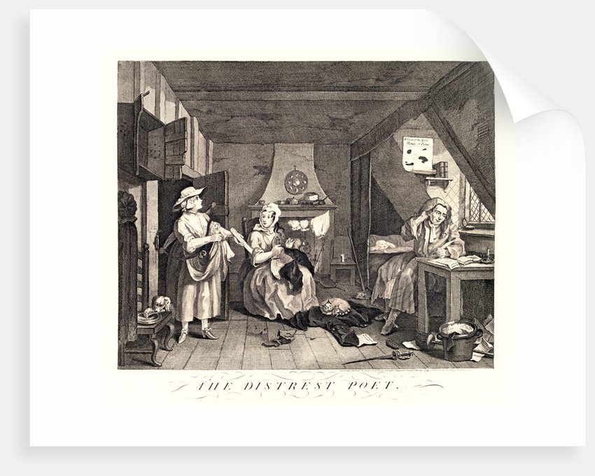 The Distrest Poet by William Hogarth