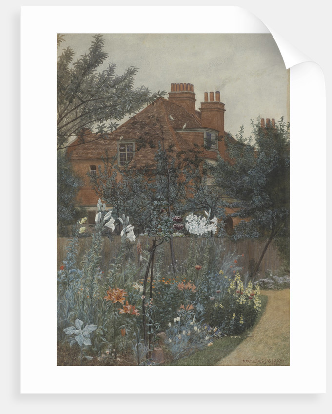 View of a garden in Bedford Park by F. Hamilton Jackson