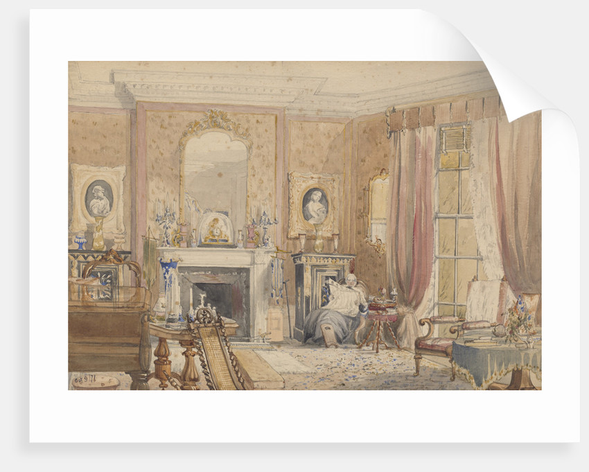 The Drawing Room at Bryn Glâs,  Newport Mon[mouthshire] by Julia Mackworth