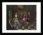 Portrait of a family in an interior, thought to be the Roubel family by Anonymous