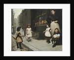 Streetscene with children skipping by Janet Archer