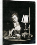 Reading by a Paper-bell Shade by unknown