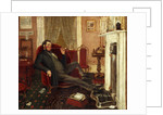 Man smoking in a parlour by John Edward Soden