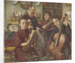 Group portrait of Alfred Rooke and his family in their home in Mount Park, Ealing by Thomas Matthews Rooke