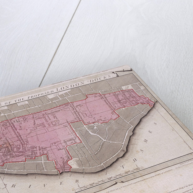 Plan for the proposed London Docks, Stepney by