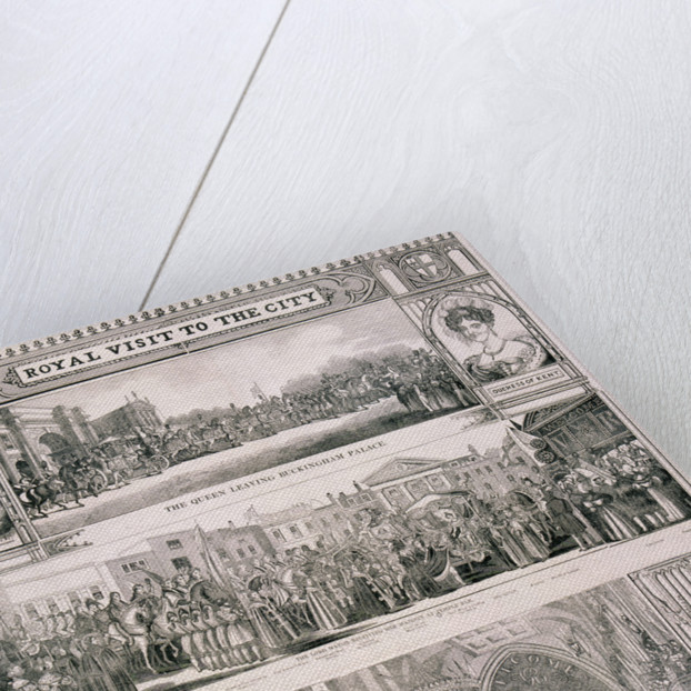 Queen Victoria's visit to the City of London by Nathaniel Whittock