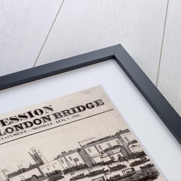 Opening of London Bridge by James Catnach