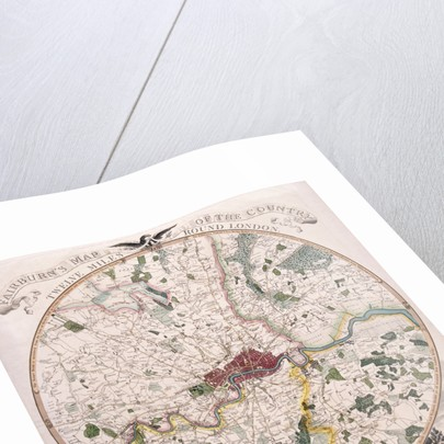 Map of London by E Bourne