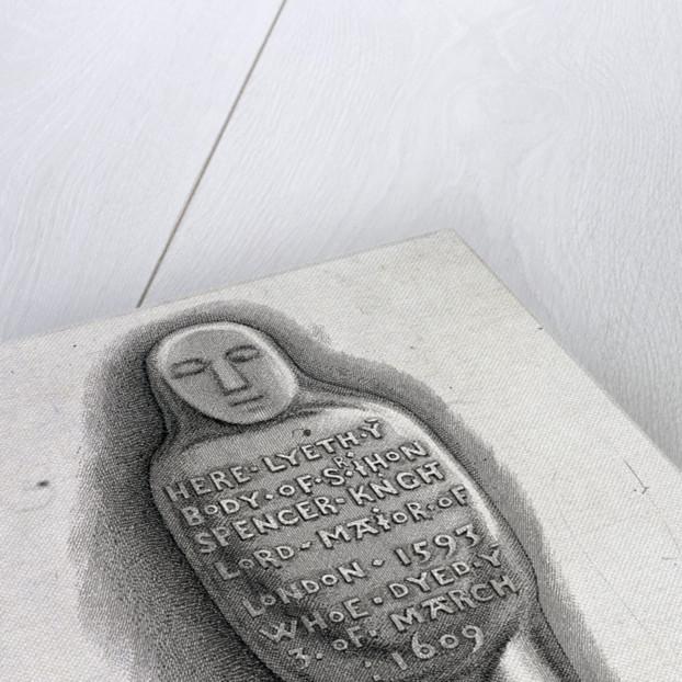 Leaden coffin of Sir John Spencer, St Helen, Bishopsgate, London by