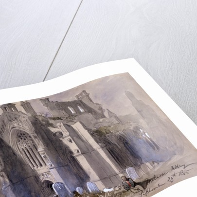 Melrose Abbey by Sir John Gilbert