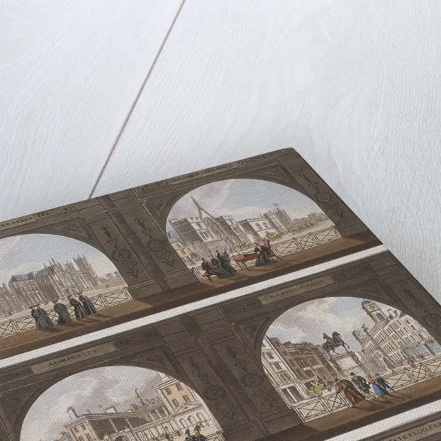 Six views of London sites seen through an arch by Anonymous