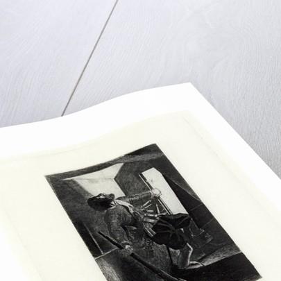 Elizabethan soldier shot by Charles Samuel Keene