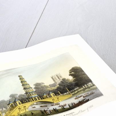 The Chinese bridge and pagoda, erected in St James's Park, London by Matthew Dubourg