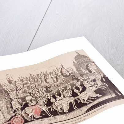 Queen Elizabeth I travelling by coach to St Paul's after the defeat of the Spanish Armada by Anonymous