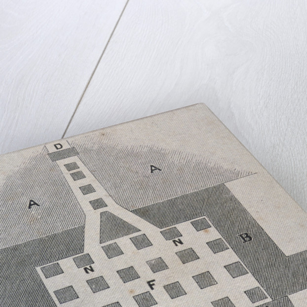 Plan of a Roman hypocaust found on the site of the Coal Exchange, City of London by FW Fairholt