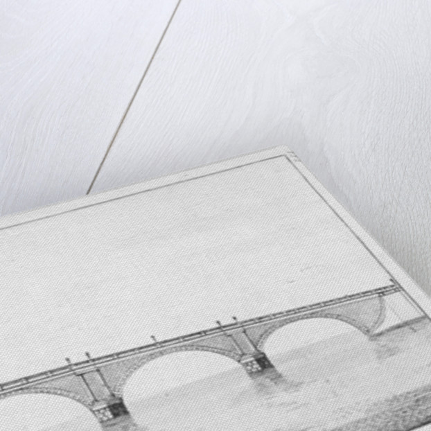 Longitudinal section of Blackfriars Bridge, London by Anonymous
