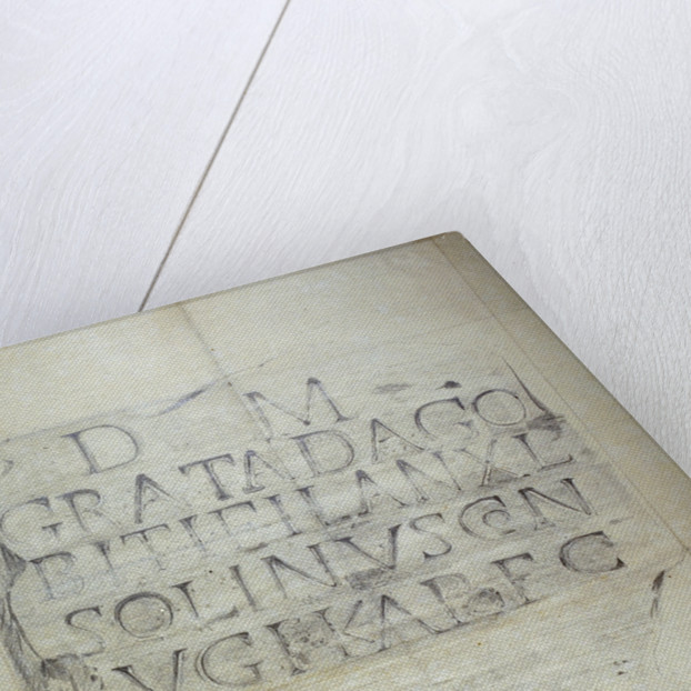 Roman memorial stone erected by Solinus in memory of his wife Grata by Anonymous
