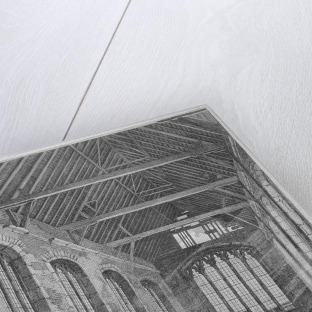 Workmen dismantling Holy Trinity Chapel, Leadenhall Street, City of London by