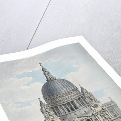 West front of St Paul's Cathedral, City of London by Thomas Malton II