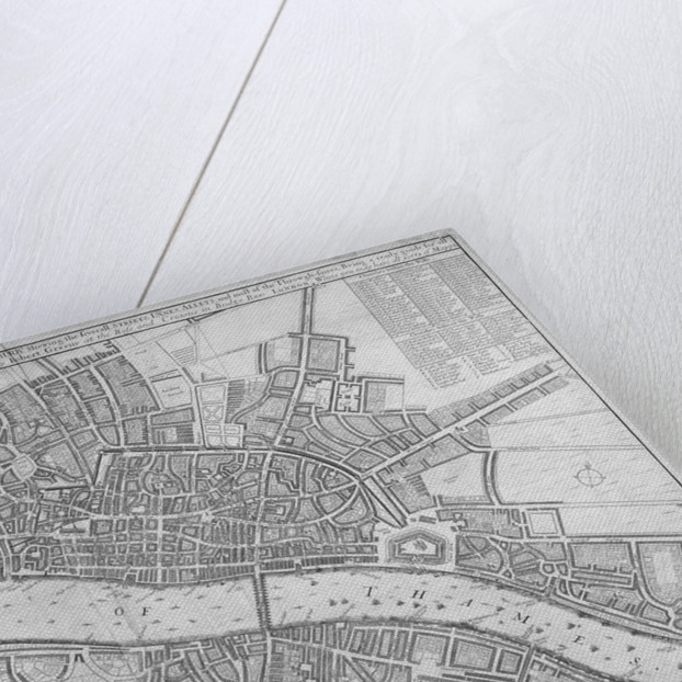 Map of the Cities of London and Westminster, Southwark and the suburbs by Anonymous