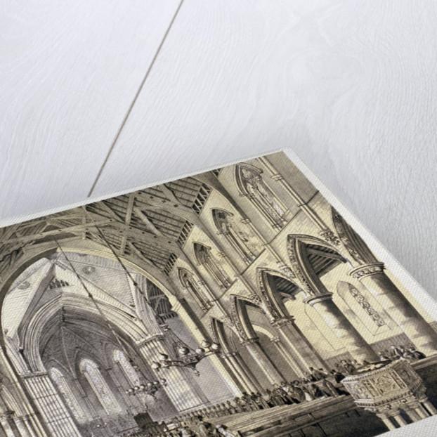 Interior view of the Church of St John of Jerusalem, Hackney, London by CJ Greenwood