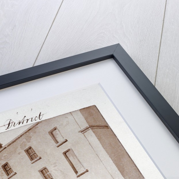 Premises belonging to builders Peto and Grissell in York Road, Lambeth, London by John Buckler