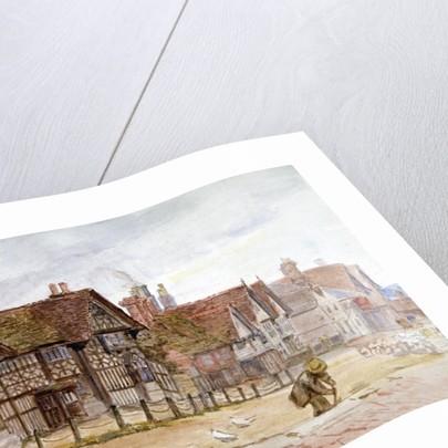 Village Street with Tudor Houses by Anna Lea Merritt