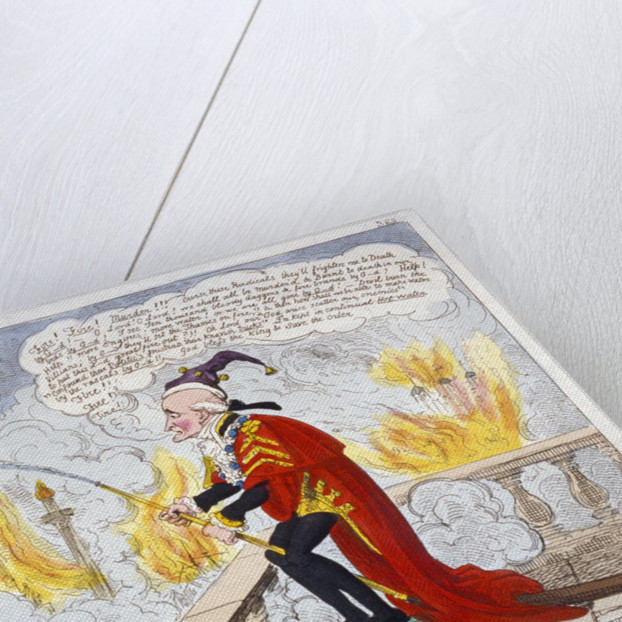 Smoak Jack the alarmist, extinguishing the second Great Fire of London (a la Gulliver)!!! by Anonymous