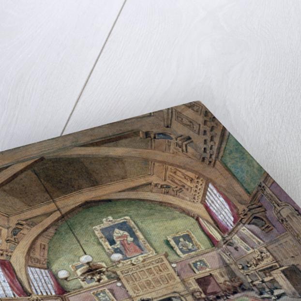 Interior view of the hall in Barnard's Inn, London by John Phillipps Emslie