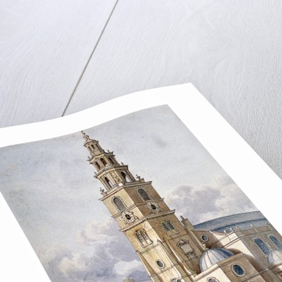 South-west view of the Church of St Clement Danes, Westminster, London by