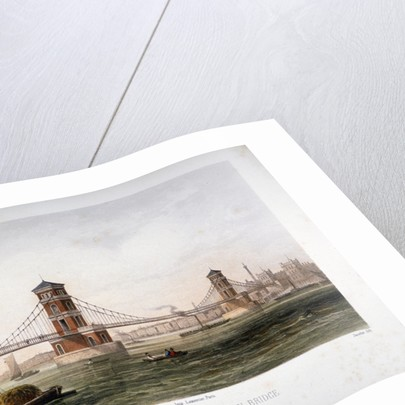 View of Hungerford Bridge from the east, London by