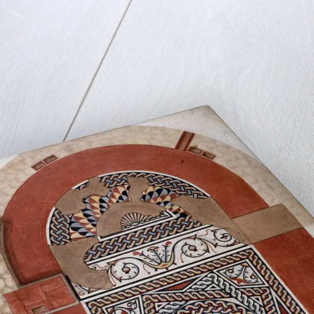 Roman mosaic pavement dating from 300 AD, found in Bucklersbury, City of London by HR Payne